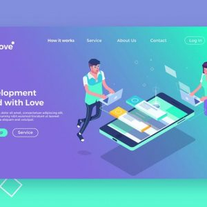 Software Developer - Landing Page Illustration