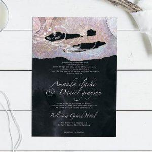 Sparkling Wedding Invitation Card