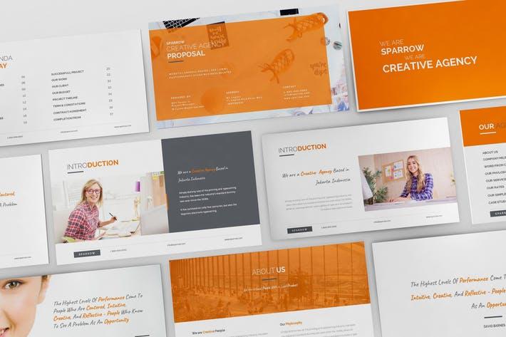 Sparrow - Creative Agency Google Slides