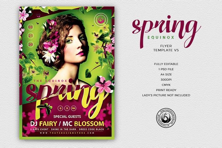 Spring Equinox Flyer Template V5