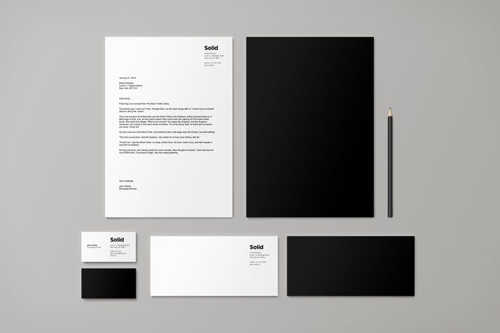 Stationery Template Identity - Solid