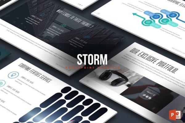Strom Powerpoint Template