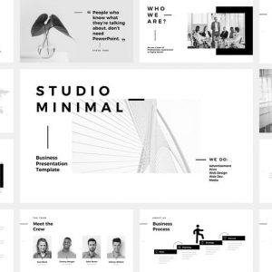 Studio Minimal Presentation Google Slides Template