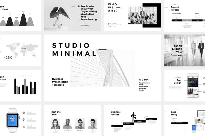 Studio Minimal Presentation PowerPoint Template