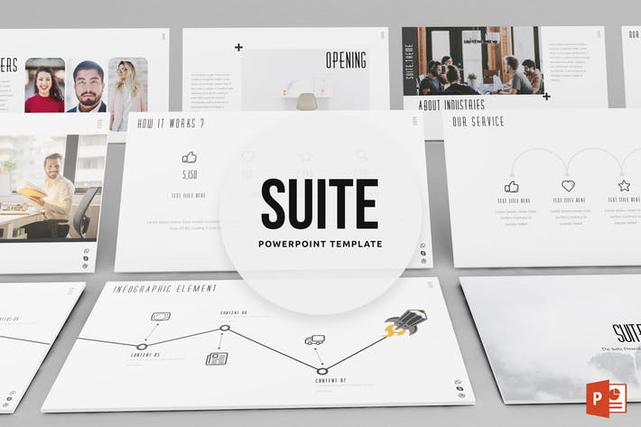 Suite Powerpoint Template