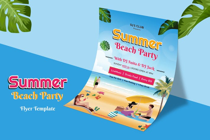 Summer Beach Party - Flyer