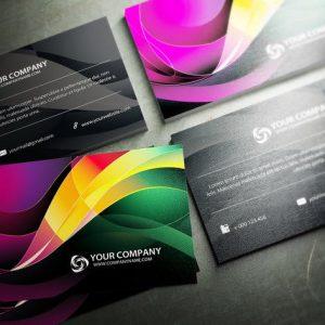Swirls Business Card Design