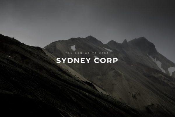 Sydney Professional Google Slides Template