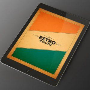 Tablet Retro Magazine Indesign Template