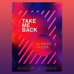 Take me Back Flyer Poster Vol.2