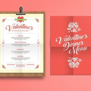 Valentine's Diner Menu