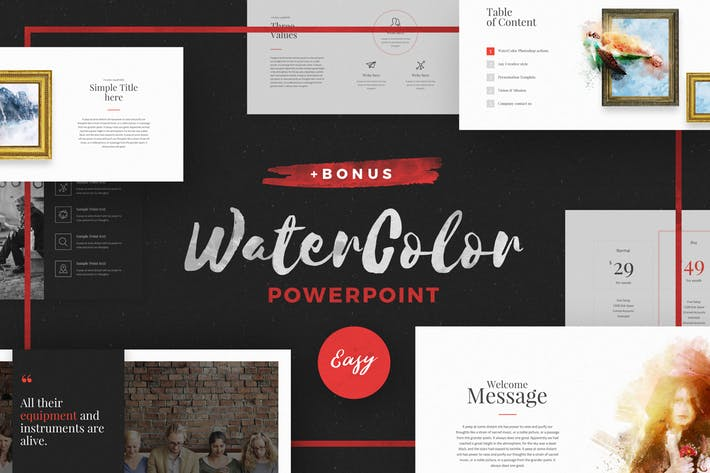 WaterColor - Powerpoint Template