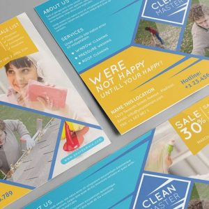 Window Cleaning & Pressure Washing/ Flyer Template