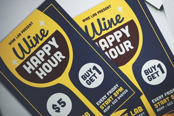Wine Happy Hour Flyer
