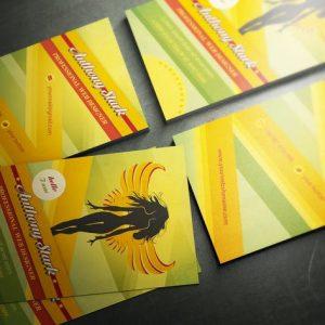 Woman Business Card Design - 6 color versions