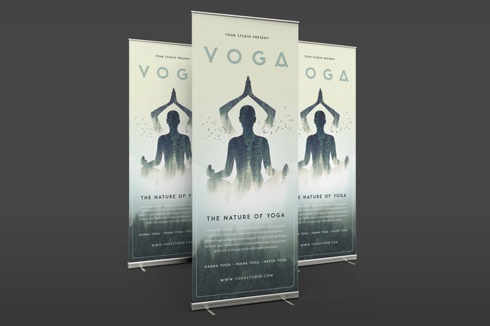 Yoga Roll Banner