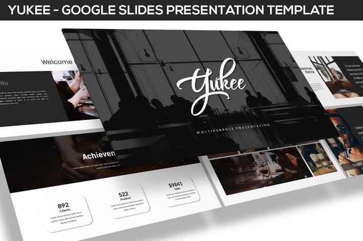 Yukee - Multipurpose Google Slides Template