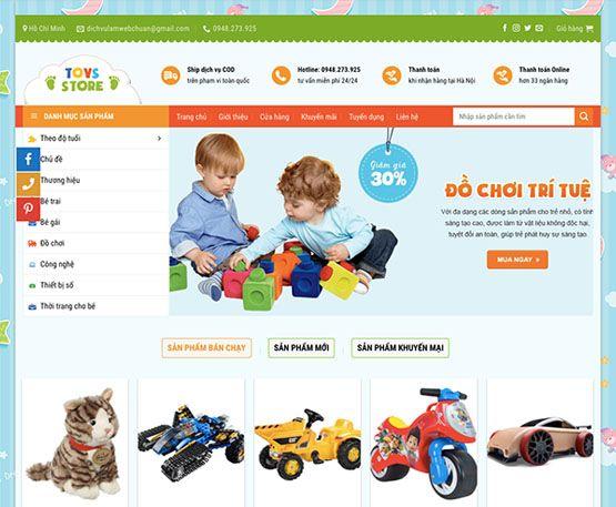 Website bán đồ chơi trẻ em online