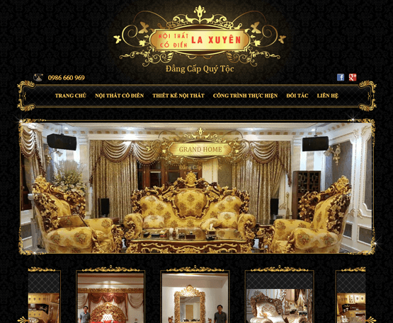Website bán đồ nội thất cổ điển