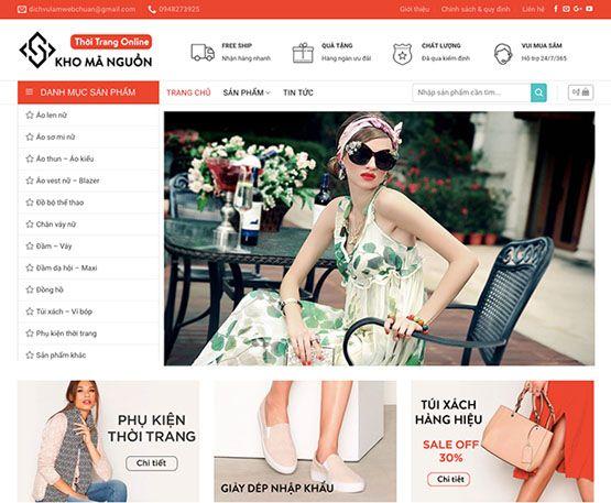 Website bán thời trang - phụ kiện online