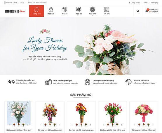 Website cho shop bán hoa tươi online