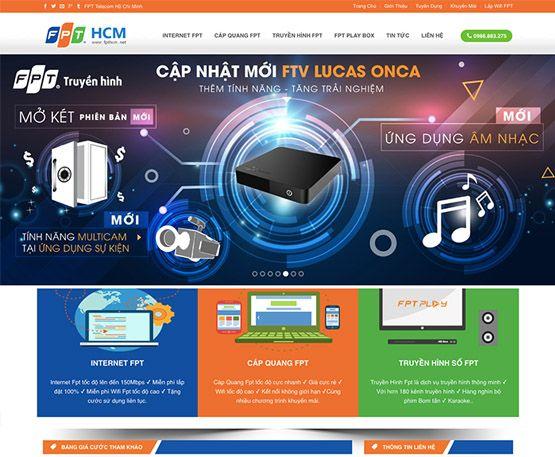 Website dịch vụ lắp đặt internet
