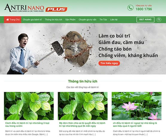 Website giới thiệu thực phẩm chức năng - thuốc