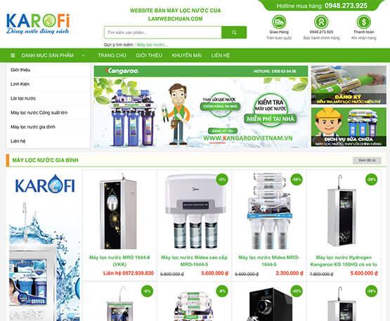 website Bán máy lọc nước
