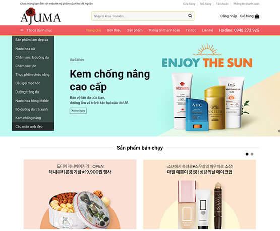 website Bán mỹ phẩm online
