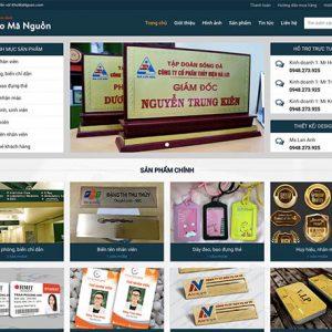 website kinh doanh biển chức danh