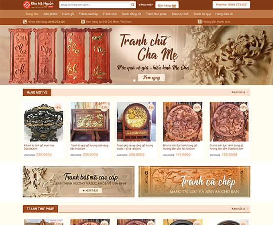 website Cửa hàng bán tranh gỗ