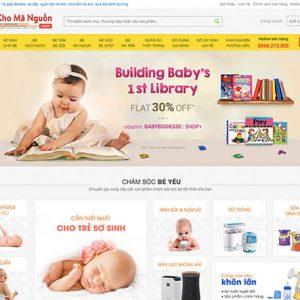 website Cửa hàng Mẹ và Bé