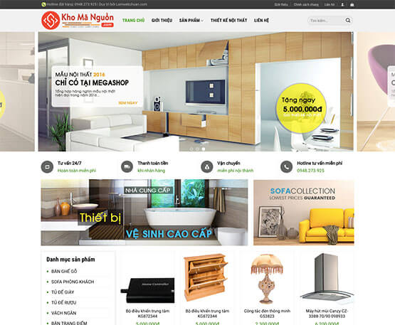website Cửa hàng nội thất online