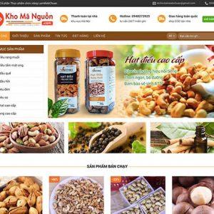 website Cửa hàng nông sản