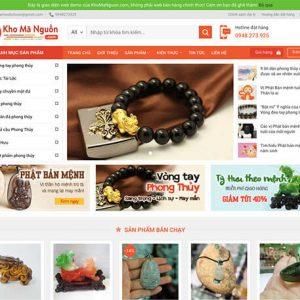 website Cửa hàng vật phẩm phong thuỷ
