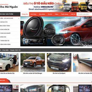 website Đồ chơi – Phụ kiện ô tô