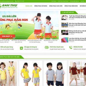 website Đồng phục mầm non