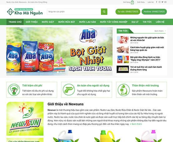 website Giới thiệu và bán nước giặt