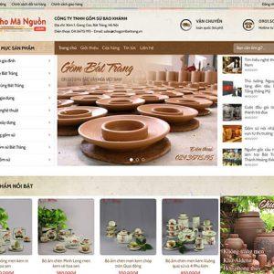 website Gốm sứ Bát Tràng