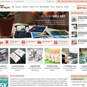 website In ấn – quảng cáo