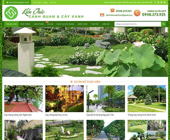 website Kiến trúc cảnh quan & cây xanh