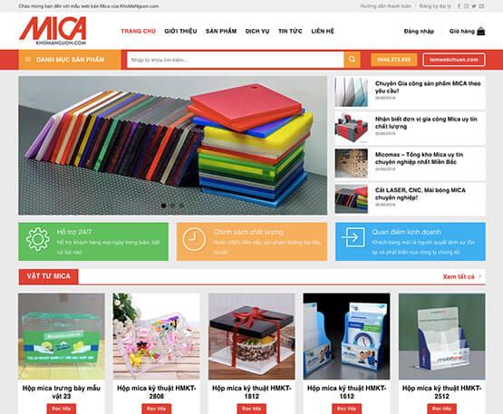 website Kinh doanh Mica