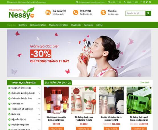 website Kinh doanh mỹ phẩm