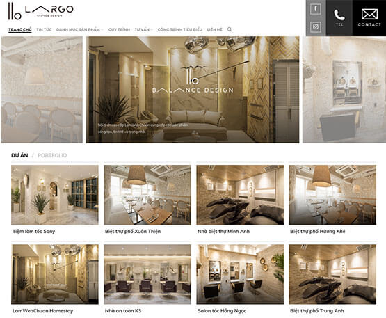 website Kinh doanh nội thất