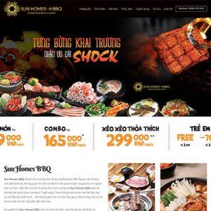 website Nhà hàng nướng BBQ
