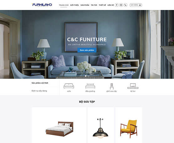 website Nội thất cao cấp