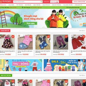 website Shop thời trang trẻ em
