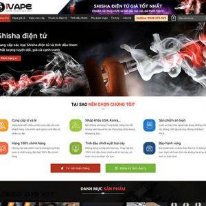 website Shop vape cao cấp