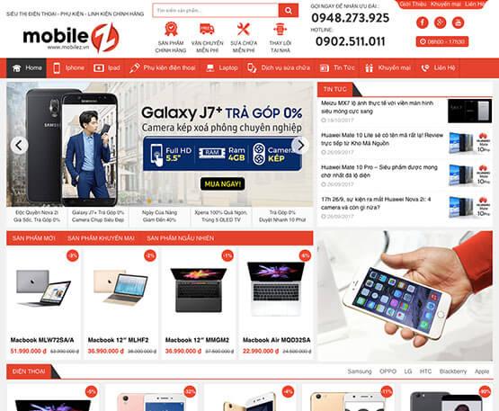 website Siêu thị điện thoại