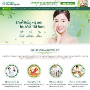 website Dịch vụ spa - thẩm mỹ